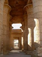 Inside large columned room